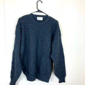 Vintage Wool Grandpa Sweater Sz L